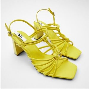 💛 HIGH HEELED SANDALS WITH KNOT DETAIL TRF💛